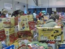 Salvation Army gives toys to legions of children
