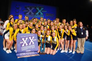Cheerleaders from the North Raleigh Christian Academy are celebrating a recent victory at the Fellowship of Christian Cheerleading National Championships.