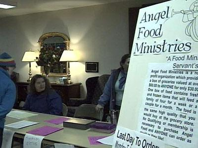 St. Andrews United Methodist Church members distribute food through the Angel Food Ministries program, which   helps people get groceries got less.