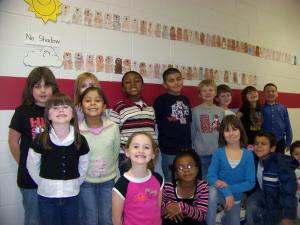 Students in Mrs. Turlington and Mrs. Lee's 1st grade class