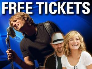 Free Keith Urban/Sugarland concert tickets