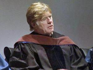 Robert Redford was honored April 18, 2009 with the inaugural Duke LEAF Award for his lifetime environmental achievement in the fine arts.