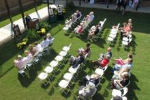 Sunny skies greeted guests Saturday at Mount Olive College.