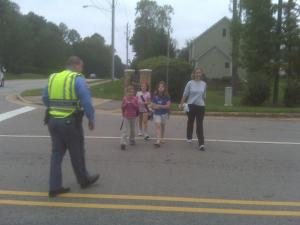 Students across the state skipped the bus Wednesday to take part in international Walk to School Day.