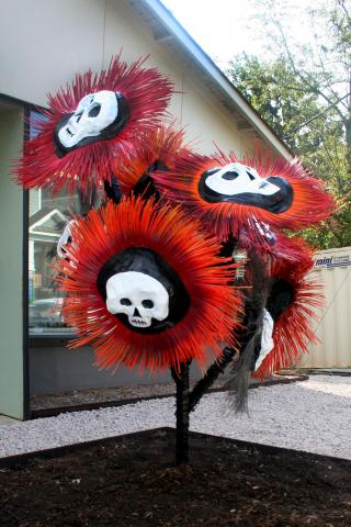 """The work of Joseph Carnevale, creator the """"Barrel Monster,"""" will appear in an exhibit in Raleigh."""