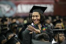 NCCU's Chancellor Charlie Nelms asked Alexandria Horne to stand and be recognized as a fourth generation graduate of North Carolina Central University.