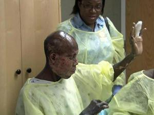 Eric Louis was first treated by a Tennessee doctor who was in Haiti three days after the quake hit.