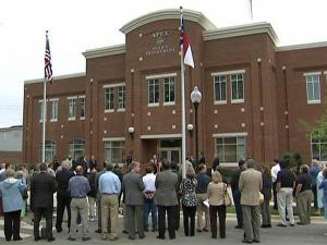 The town of Apex held a dedication ceremony Tuesday evening, May 11, 2010, for its new police headquarters.