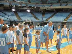 Eric Montross host his annual Father's Day basketball camp at the Dean Smith Center in Chapel Hill on Saturday, June 19, 2010.