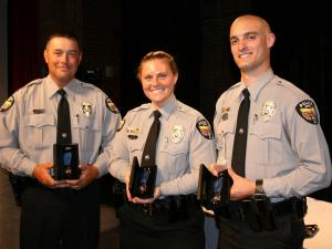 Officer Charles Jones, Officer Lindsey Tote and Officer Josh MacMonagle were awarded the Apex Police Department's Medal of Valor.