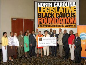 The North Carolina Legislative Black Caucus Foundation on Friday, June 25, 2010, presented 10 participating historically black colleges and universities with a check for $110,000.