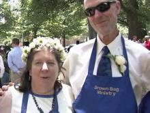 Bride, groom feed the homeless