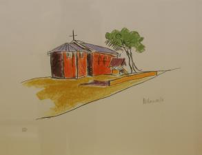 The Church, a sketch by Nelson Mandela