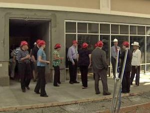 Members of the media got a hard-hat tour of the Tanger Outlet center in Mebane on Aug. 17, 2010.