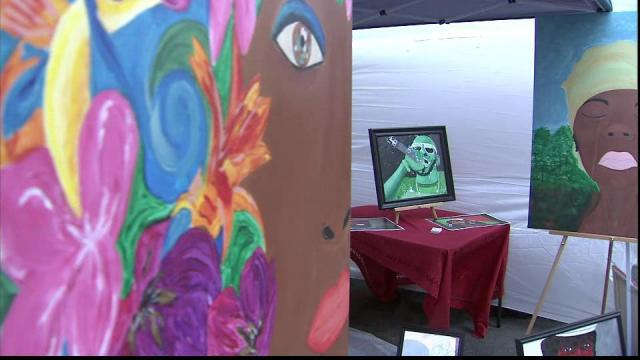 The African American Cultural Festival, which is being held this weekend in downtown Raleigh, features art exhibits.
