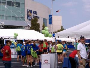More than 20,000 walkers raised more than $1 million for heart and stroke research and education programs Sunday in Raleigh.