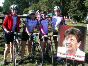 Cyclists gathered in Cary on Oct. 9, 2010, for the Tour de Femme to raise money and awareness for cancer research.