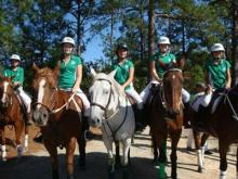 A Polocrosse youth team lines up at Mariahs Glen on Oct. 17, 2010. (Photo courtesy of Claudia Watson)