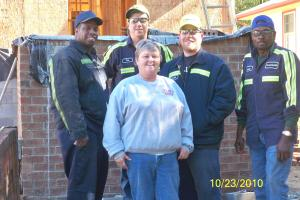 Employees of CertainTeed in Oxford volunteered their time to work with Habitat for Humanity.