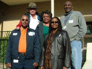 Nominees for the 2010 Cal Horton Award: (front) Cary Degraffenreid, Maggie Burnett, (back r-l) MC Russsell, Carmen Cole and Nate Davis. Not pictured: Harold Scarborough and the late Sandy Kline. (Photo courtesy of the Town of Chapel Hill)