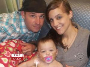"Crystal Darak, 24, her husband Jayson, and their daughter Korah, who was born with a heart defect, were featured on the CBS show ""The Talk."""
