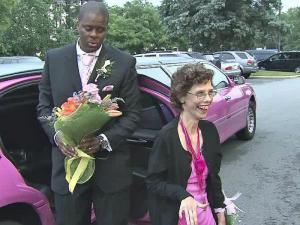 "Dresses, flowers and a pink limo added to the pomp at the ""Dance Like No One Is Watching Gala."""