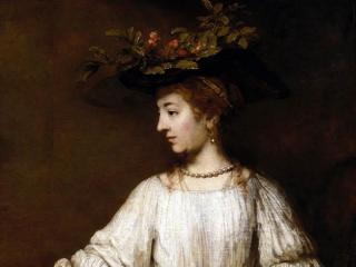 Flora by Rembrandt van Rijn, dating to probably early 1650s. Oil on canvas. The Metropolitan Museum of Art.