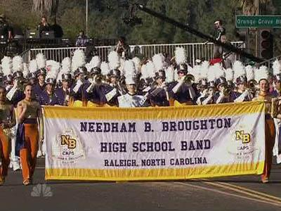 Broughton High School band marches in Tournament of Roses parade ...