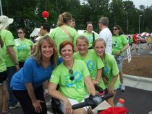 WRAL's Debra Morgan (in blue) is honorary chairwoman of the Triangle Walk to Defeat ALS.
