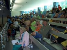 Special Olympics competition at the Triangle Aquatics Center in Cary