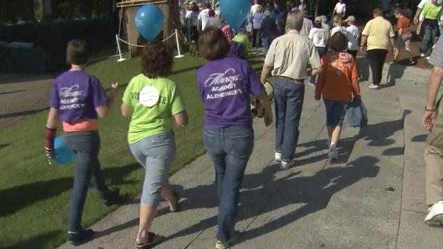 WRAL's Debra Morgan joined more than 2,000 people Saturday at the annual Walk for Alzheimers in Cary.