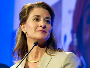"Melinda French Gates, co-chair and trustee of Bill & Melinda Gates Foundation attends the ""UKAID's London Summit on Family Planning"" at the Queen Elizabeth II Conference Centre in London, England on July 11, 2012."