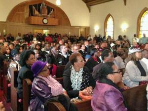 A packed church celebrated the pardons of the Wilmington 10.
