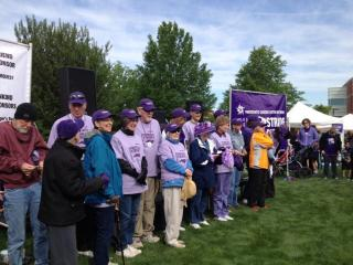 Survivors joined supporters who turned out in purple, the signature color of pancreatic cancer awareness.