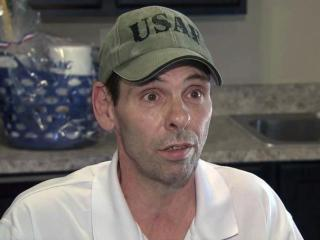 Bill Andruzzi was honorably discharged from the U.S. Air Force after seven years of service but became sick last year, lost his job and became homeless. He's one of 10 people who on Aug. 7, 2013, moved into subsidized housing specifically for homeless veterans.