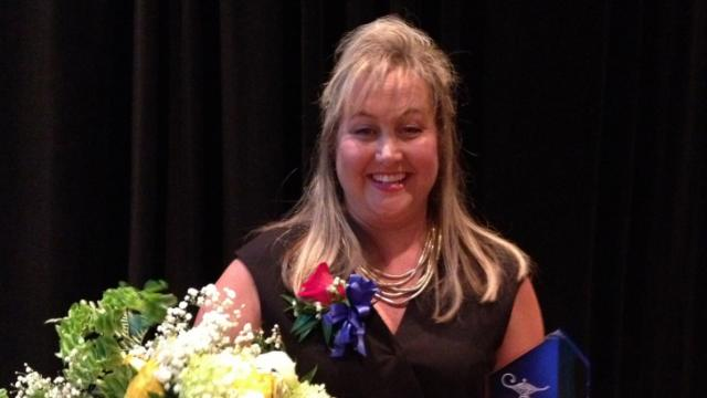 The Cumberland County school system on Monday named veteran Max Abbott Middle School educator Amy Noble as its 2013-14 Teacher of the Year.