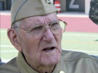 """Retired Army Cpl. Merle """"Jack"""" Hammersley received a Bronze Star on Sept. 13, 2013, for his service during World War II."""