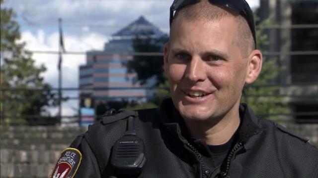 Durham Traffic Services Officer Gabriel Munter