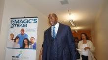 IMAGES: Magic Johnson visits Durham students