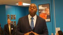 IMAGES: Magic Johnson visits Durham school
