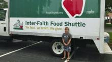 IMAGE: Third grader is charity CEO for food donation drive