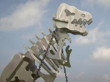 Soaring dino skeletons a side business of Pikeville metal shop