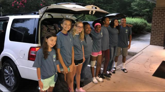 Global Bankers and the Wake County Boys and Girls Club partnered to give 10 children scholarships to Camp Southern Ground, sponsored by the Zac Brown Band in Georgia.  (Photos courtesy Wake County Boys and Girls Club)