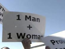 Supporters Rally for Marriage Amendment