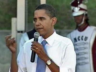 Democratic presidential candidate and Illinois Sen. Barack Obama spoke at a fund-raising event at North Carolina Central University on Thursday, Nov. 1.
