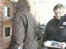 Raleigh Man Crunches Snow, Knocks on Doors for Votes