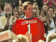 Edwards Attends Clemson 'Homecoming' Rally