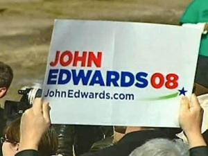 John Edwards campaign sign