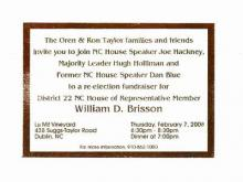 House Speaker Joe Hackney and other prominent lawmakers - as well as a former lawmaker convicted of accepting a bribe - are listed on this invitation to a political fundraiser.