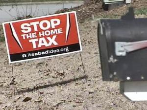 Anti-Transfer Tax sign
